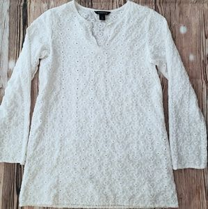 Other - LAND'S END GIRLS Eyelet Hearts Tunic/Swim Coverup